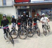Schülerkader im Bikepark Leogang